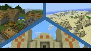 Top 3 Village Seeds for Minecraft PE and Windows 10