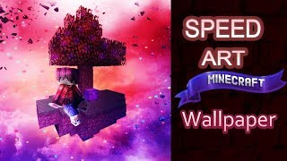 Minecraft wallpaper Speed art ◆ Sky Islad ◆ Jupitoo