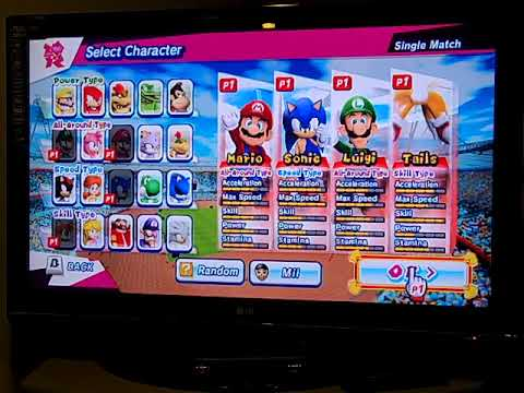 Mario & Sonic at the London 2012 Olympic Games (Wii) Part 1: All Events (1/3)