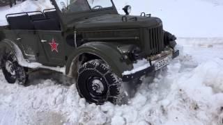 Газ-69 и CF-Moto. Зима 2015