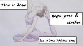 yoga pose drawing draw drawings clothing getdrawings paintingvalley