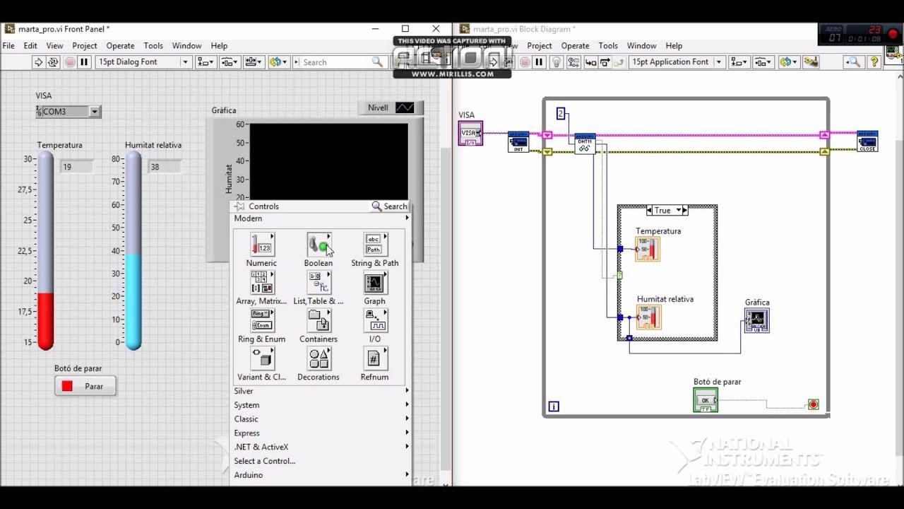 Sensor Dht11 Amb Labview Utilitzant Toolkit D Arduino