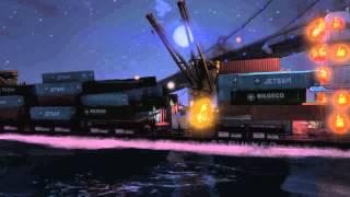 GTAV Merryweather container ship exploding cutscene