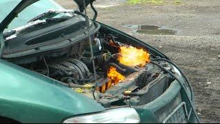 Luftfilter ausgebrannt - Der Dodge gibt auf
