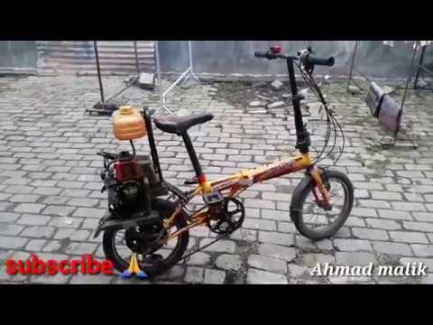 Sepeda Lipat Bermesin Potong Rumput Youtube