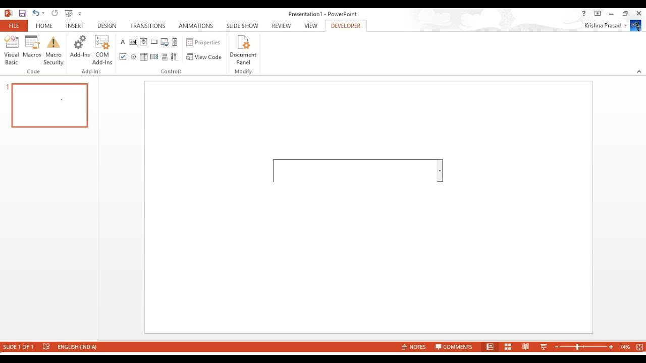 How to insert a drop-down list box into PowerPoint Presentation 2013(Remake)