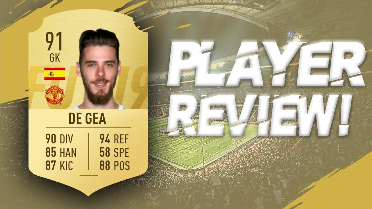 8579c7fa236a1 FIFA 19 - 91 RATED DAVID DE GEA PLAYER REVIEW