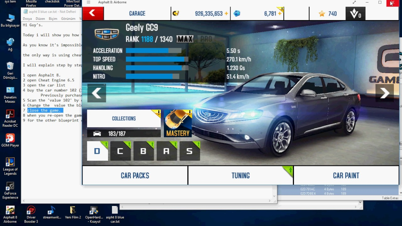 Asphalt 8 how to buy blueprint cars - YouTube