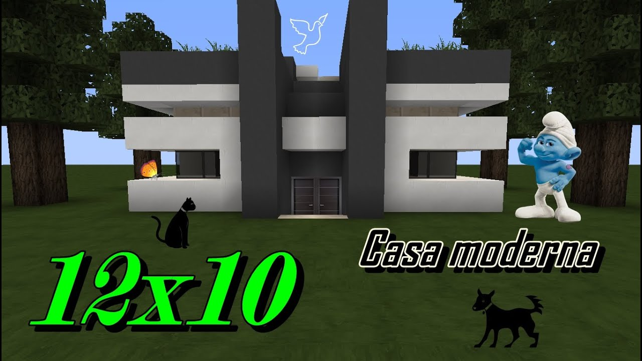 como construir uma casa moderna 12x10 - youtube