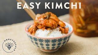Easy Kimchi Recipe | HONEYSUCKLE