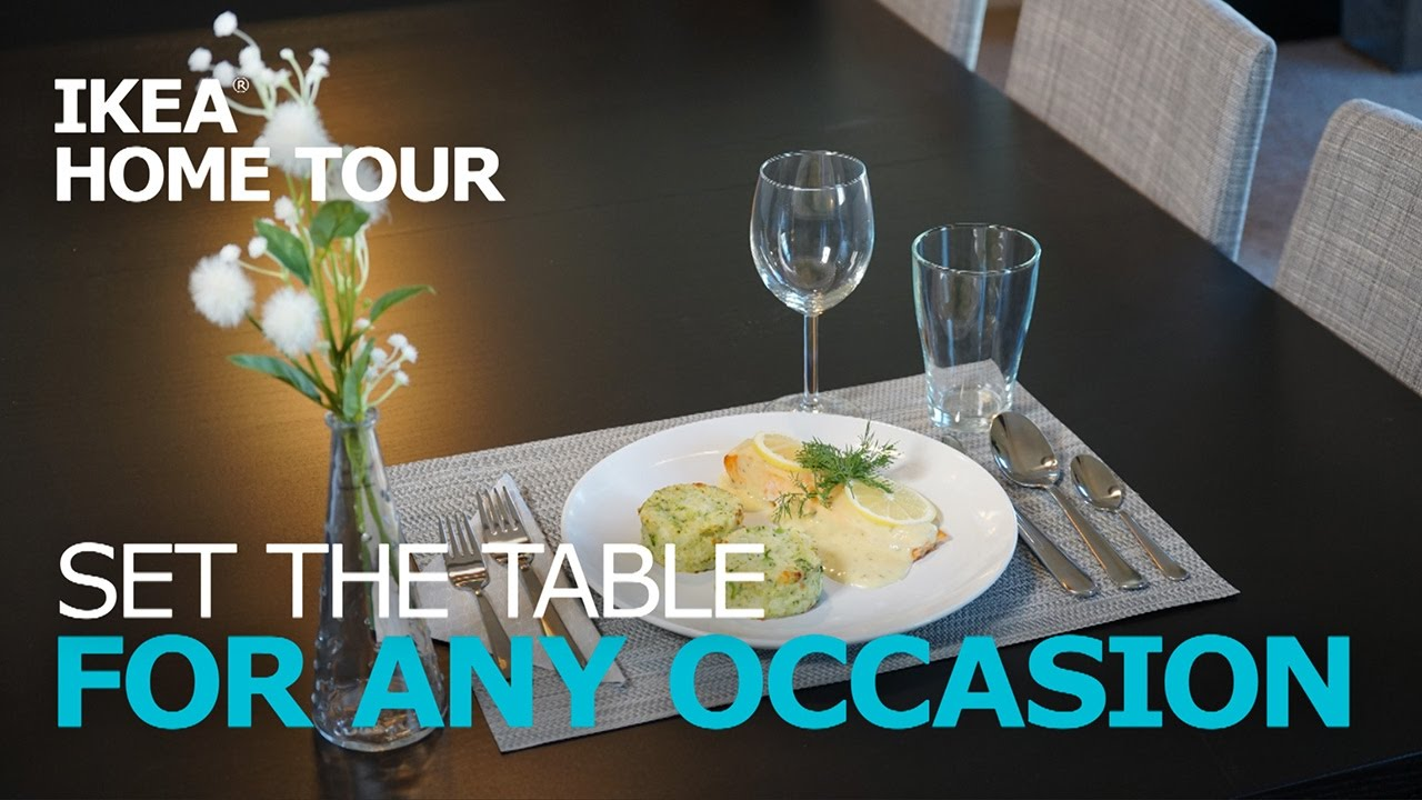 how to set a table ikea home tour
