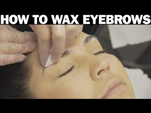 How To Wax Eyebrows
