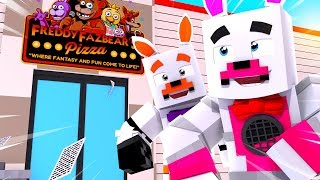 Lolbit and Funtime Foxy Visit !! | Minecraft FNAF Roleplay