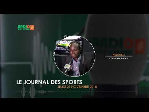 LE JOURNAL DES SPORTS DU 29 NOVEMBRE 2018 - Radio CÔTE D'IVOIRE