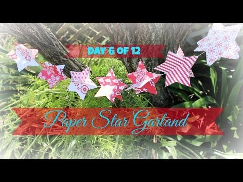 Day 6 | 3D Paper Star Garland