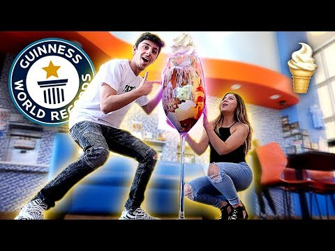 WE MADE THE WORLDS BIGGEST ICE CREAM SUNDAE!! *WORLD RECORD*