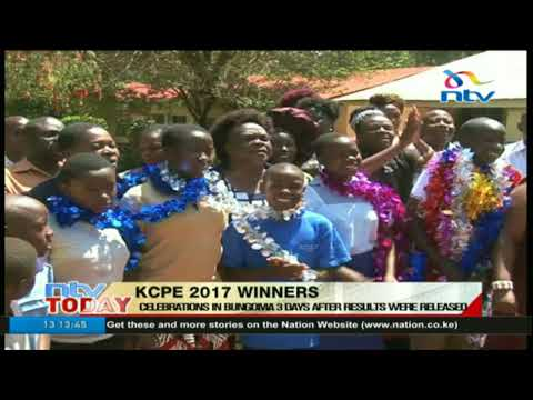#KCPEResults: Celebrations in Bungoma 3 days after results were released