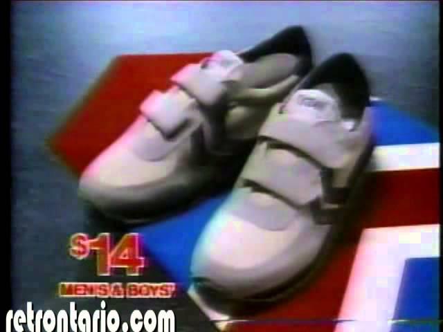 K-mart Trax Velcro shoes 1985 - YouTube