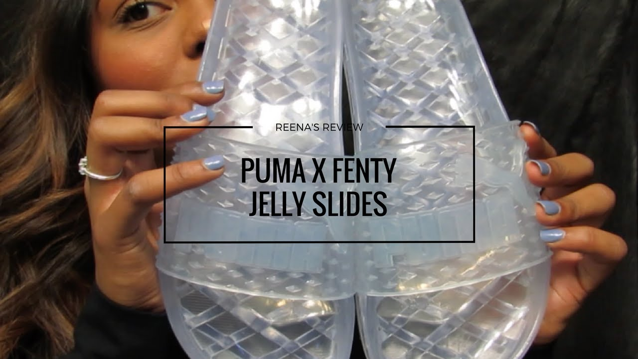 puma jelly slides colorful