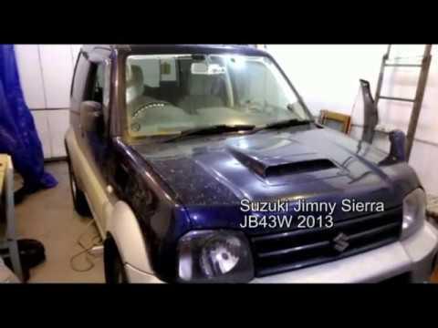замена ламп в панеле 4WD Suzuki Jimny