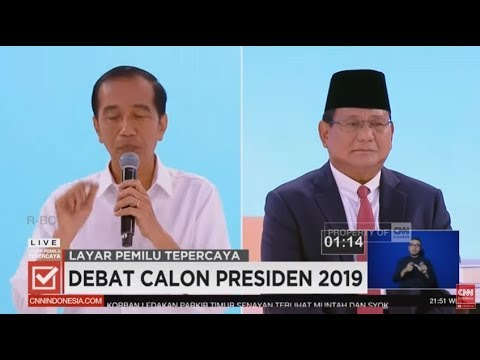 Full Debat Kedua Capres 2019, Joko Widodo Dan Prabowo Subianto