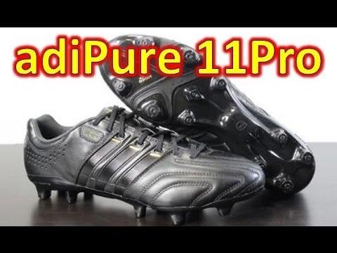 reputable site f9cf8 2968e Adidas adiPure 11pro Black Metallic Gold - Unboxing + On Feet - YouTube