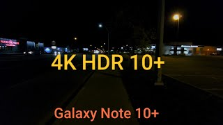 Samsung galaxy note 10 plus | hdr 10+ 4k mode ultrawide, primary and telephoto video test