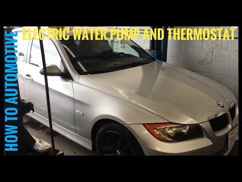 bmw e90 e91 e92 e93 325i 328i 330i electric water pump and how to replace electric water pump and thermostat on a 2006 bmw 325i
