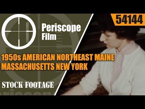 1950s AMERiCAN NORTHEAST  MAINE  MASSACHUSETTS  NEW YORK  NEW HAMPSHIRE 54144