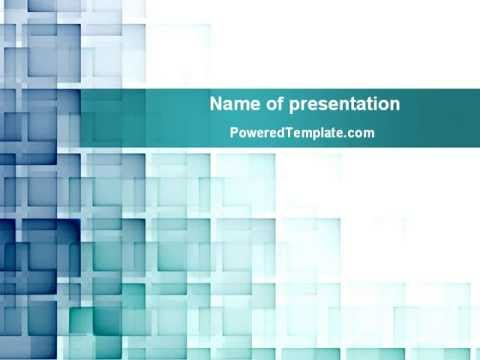 abstract geometric pattern powerpoint template by poweredtemplate
