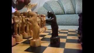 Шахматы ручной работы из дерева - А Вам Слабо?!(Шахматы сделанные мной из дерева. Делал примерно около месяца. А Вам Слабо?! http://papa-karlo.moy.su/, 2015-06-27T12:29:35.000Z)
