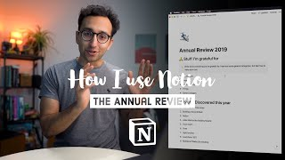 My 2019 Annual Review using Notion