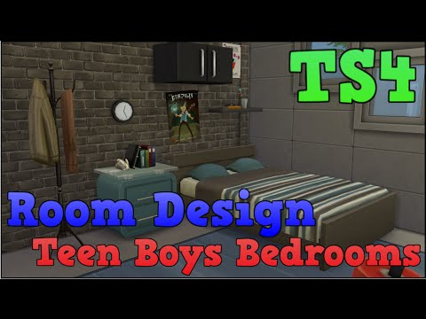 The Sims 4 Styled Room Bedrooms For Teenage Boys Youtube