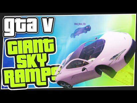 GTA 5 Online - Giant Sky Ramps (Custom Games)