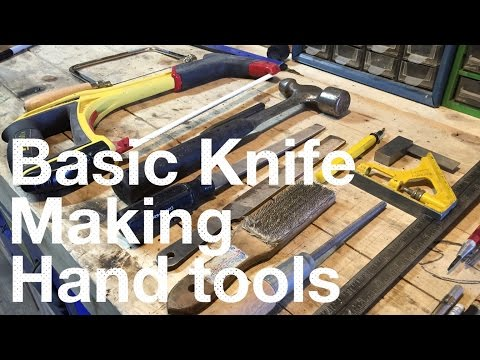 Basic Knife Making Tools - Part 1of 3 of a YouTube knife making class