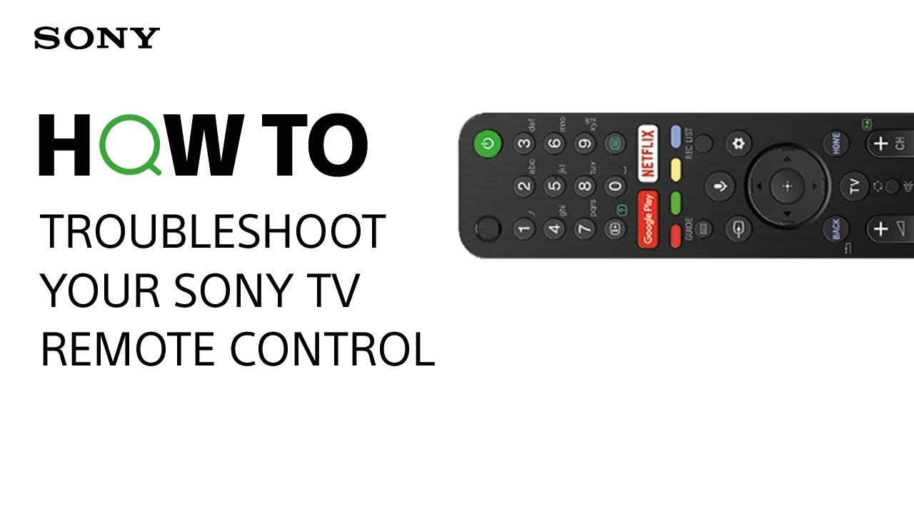 How to troubleshoot your Sony TV remote control