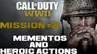 MEMENTOS & HEROIC ACTIONS | COD WW2 | Mission 2 Operation Cobra |  Call Of Duty WW II