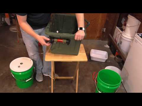 Homemade Camp Kitchen Sink For Cheap!