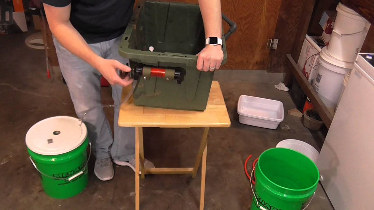 Homemade Camp Kitchen Sink For Cheap