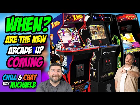 When are the new Arcade1Up Cabs Coming? | MichaelBtheGameGenie from MichaelBtheGameGenie
