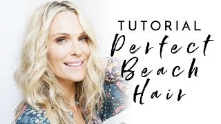 How To Get The Perfect Undone, Done Beach Waves | Molly Sims 2018