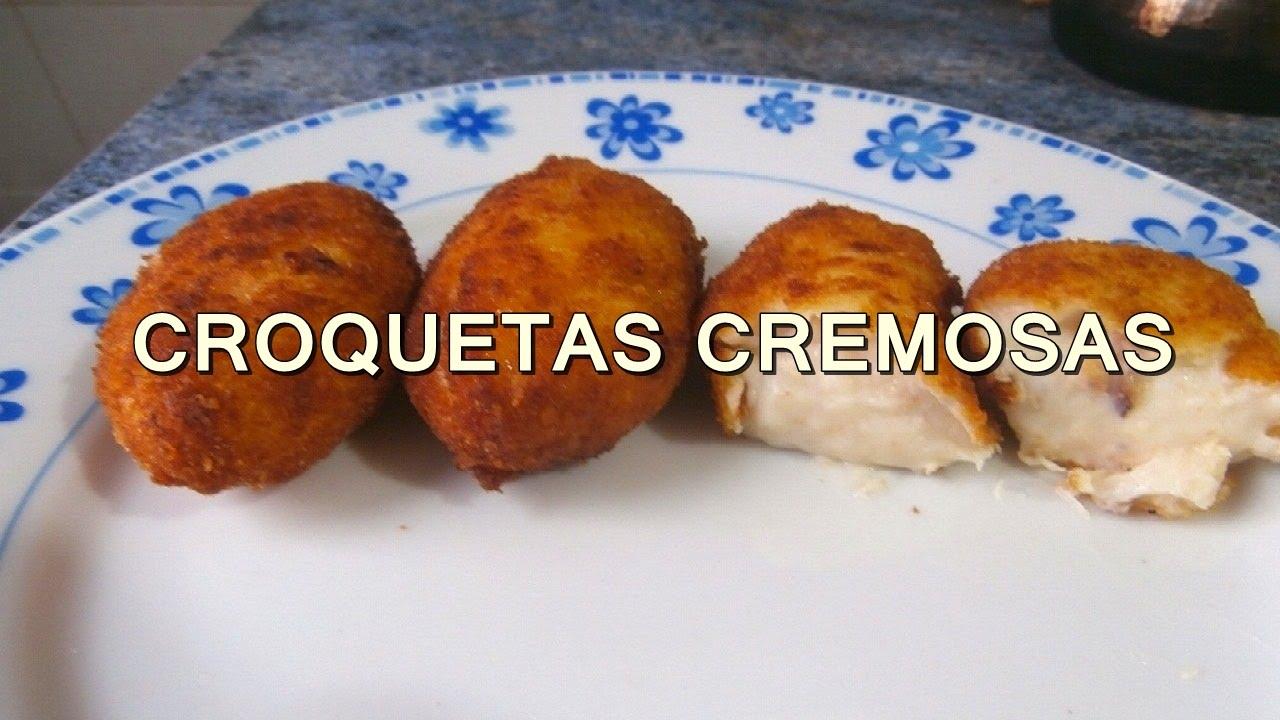 Croquetas de pollo casera recetas de cocina faciles for Comidas rapidas caseras