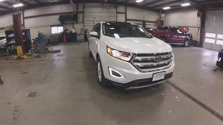 2018 White Ford Edge SEL 4x4 EcoBoost FT6370 Motor Inn Auto Group
