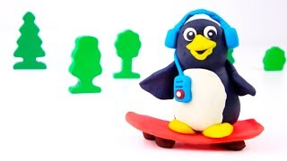 Play Doh Adventures Penguin Aliens Octopus Pirate UFO Learn Colors