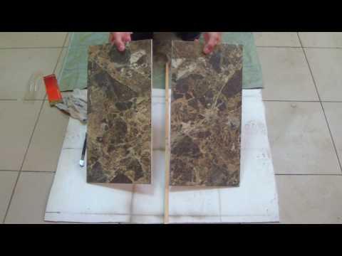 Режем плитку быстро и без пыли. Резка керамогранита стеклорезом