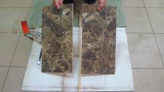 видео Как порезать плитку без плиткореза: использование стеклореза и болгарки
