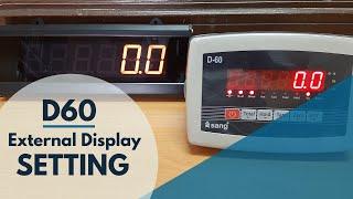 D-60, External Display Setting