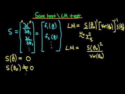 Score test (Lagrange Multiplier test) - introduction