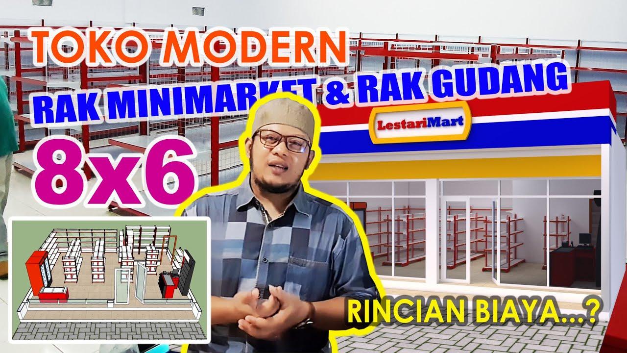 Toko 8x6 Desain Area Rak Minimarket dan Area Rak Gudang ...