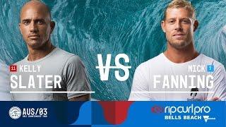 Kelly Slater vs. Mick Fanning - Round Three, Heat 4 - Rip Curl Pro Bells Beach 2017